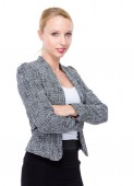 Businesswoman with arms crossed — Foto de Stock