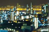 Blurred city view at night — Stock Photo