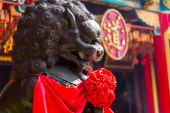 Lion statue statuary — Stock Photo