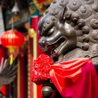 Lion statue in Chinese temple — Stock Photo #53790825