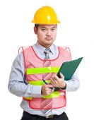 Engineer with clipboard — Stock Photo