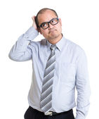 Businessman feeling difficulty of problem — Stock Photo