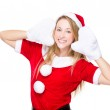 Christmas girl with hands on face — Stock Photo #57237671