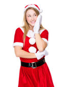 Girl with xmas party costume — Stock Photo