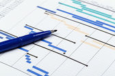 Planning Chart for Financial Project — Stock Photo