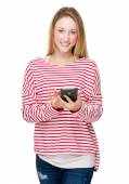 Mujer con el teléfono móvil — Foto de Stock