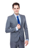 Young confident businessman — Stock Photo