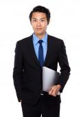 Asiatische Geschäftsmann mit laptop — Stockfoto