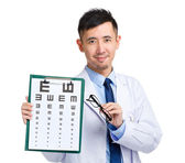 Young optical doctor — Stock Photo