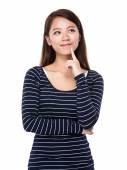 Woman thinking of idea — Stock Photo