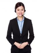 Female customer services operator — Stock Photo