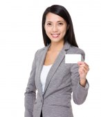 Asian businesswoman in gray suit — Stock Photo