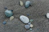 Wet stone flint — Stock Photo
