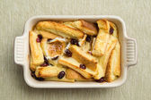 Baked bread pudding — Stock Photo