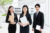 Confident asian business people at outdoor — Stock Photo