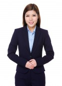 Asian young businesswoman in business suit — Stock Photo