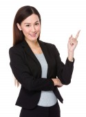 Young asian businesswoman in business suit — Stock Photo