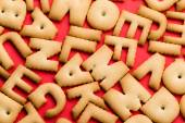 Assorted biscuit letters — ストック写真