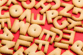 Assorted biscuit letters — Stock Photo
