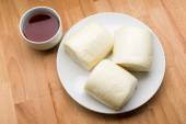Chinese Steamed Buns and tea — Stock Photo