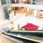 Blur escalator with bokeh — Stock Photo #76921643