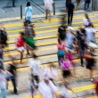 Rush Hour with crowded people crossing the road — Stock Photo #76922651
