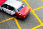 Motion blurred Taxis in Hong Kong. — Stock Photo