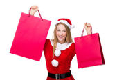 女性持株ショッピング バッグ — ストック写真