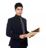 Asian handsome businessman in business suit — Stock Photo