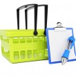 Shopping basket and checklist — Stock Photo #53768699