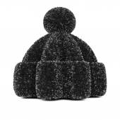 Black knitted hat — Stock Photo