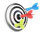 Target and darts — Stock Photo