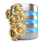 Database server and cogwheels — Stock Photo #57184581