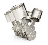 V6 engine pistons — Stock Photo