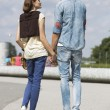 Couple looking at each other while holding hands — Stock Photo #57269451