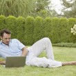 Man using laptop — Stock Photo #57269571