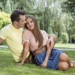 Young couple relaxing on grass — Stock Photo #57271481