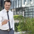 Businessman showing middle finger — Stock Photo #57271871