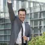 Businessman celebrating success — Stock Photo #57275057