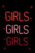 Girls written in neon lights — Zdjęcie stockowe