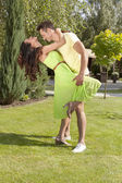 Omantic young couple dancing — Foto de Stock