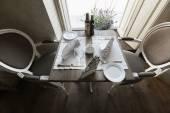 Arranged table in restaurant — Stock Photo