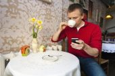 Man having coffee — Stock Photo