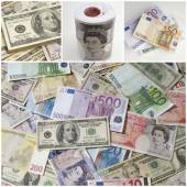 Different paper currencies — Stock Photo