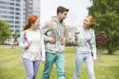 Friends walking at college campus — Stock Photo