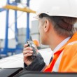 Man using walkie-talkie — Stock Photo #57280487