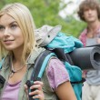 Female backpacker looking away — Stock Photo #57284397