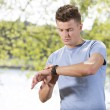 Man checking time — Stock Photo #57287059