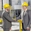 Architects shaking hands — Stock Photo #57287989