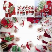 Happy Santa Clauses — Stock Photo